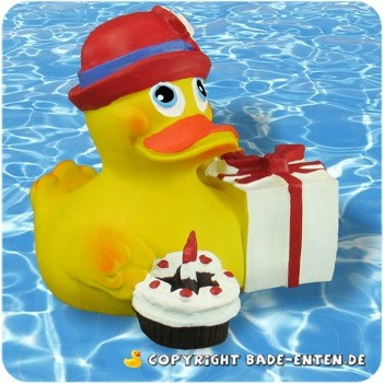 Badeente Happy Birthday Duck