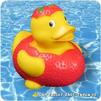 Badeente Elisa Erdbeere