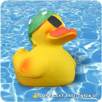 Pirat Duck mit grüner Mütze