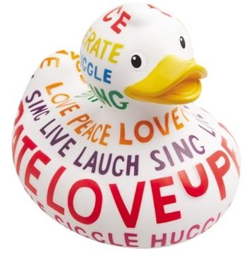 Mini-Quietscheente Duck Positive Poem