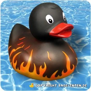 Badeente Flammen
