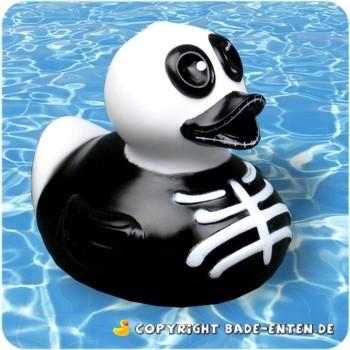 Badeente Skull