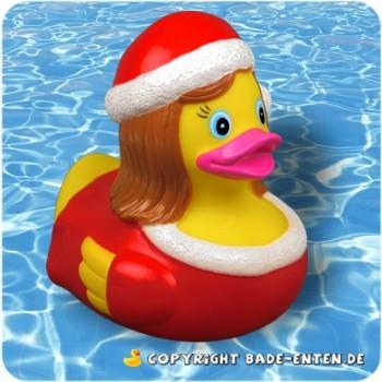 Badeente Weihnachtsfrau