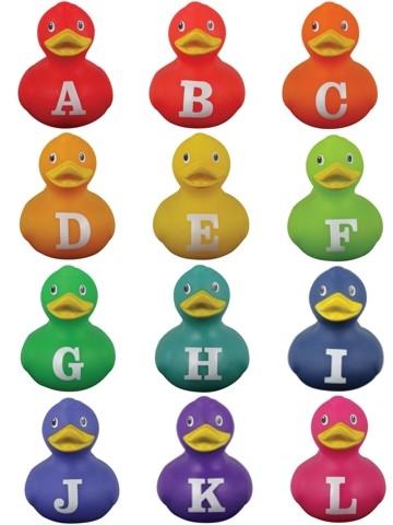 Mini-Quietscheente Alphabet Ducks A bis L